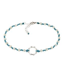 DEXTER milano/デクスター ミラノ|Anklet with silver and stone-moon stone and turquoise