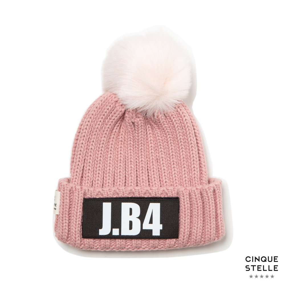 JUST BEFORE ジャストビフォー|A021 SPEAKING BEANIE-PINK