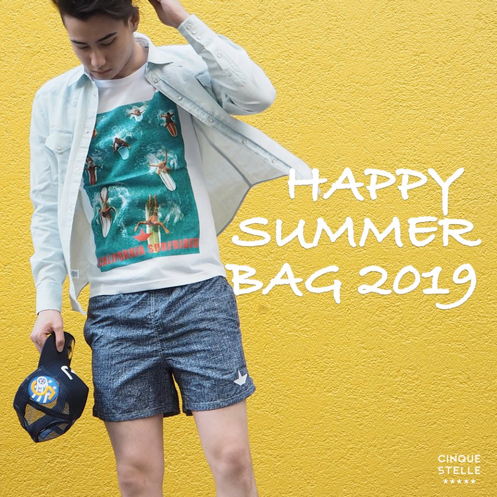 <img class='new_mark_img1' src='https://img.shop-pro.jp/img/new/icons5.gif' style='border:none;display:inline;margin:0px;padding:0px;width:auto;' />HAPPY SUMMER BAG for MEN ¥9,000