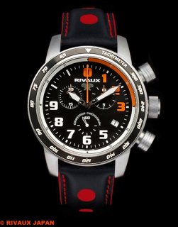 COMPETITION CHRONOGRAPH RVX146DNC Leather Strap Black / Red 2019 RUNUP Limited Edition