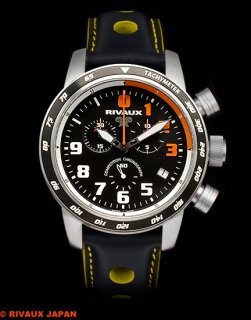 COMPETITION CHRONOGRAPH RVX146DNC Leather Strap Black / Yellow 2018 RUNUP Limited Edition
