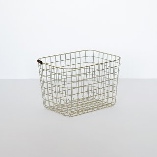 WIRE BASKET (M / gold)