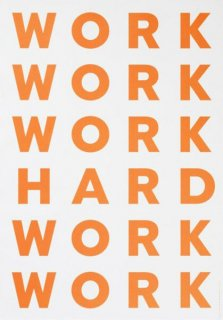 PLAYTYPE Work Hard ポスター