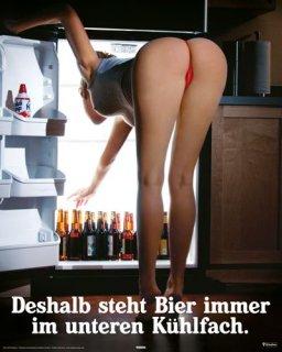 ビールを下に置く理由・・・ ポスター(ミニサイズ)