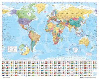 世界地図 ポスター(ミニサイズ)