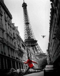 赤いジャケット(エッフェル塔) ポスター(ミニサイズ)