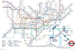 ロンドン地下鉄路線図 ポスター