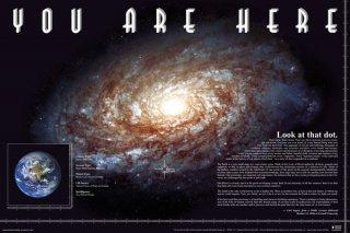 銀河系における地球の位置 ポスター