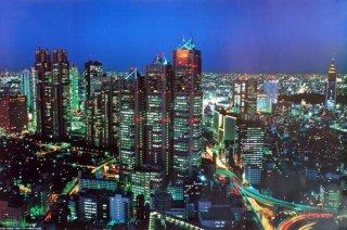東京夜景1(新都心) ポスター
