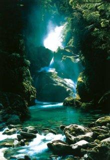 ニュージーランドの滝 ポスター