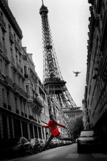 赤いジャケット(エッフェル塔) ポスター