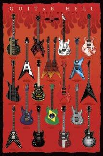 名ギタリスト達のエレキギター2(イラスト) ポスター