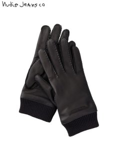 【nudie jeans(ヌーディージーンズ)】 Arvidsson Leather Glove (レザーグローブ) Black