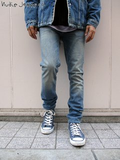 <img class='new_mark_img1' src='//img.shop-pro.jp/img/new/icons20.gif' style='border:none;display:inline;margin:0px;padding:0px;width:auto;' />※40% OFF※ 【nudie jeans(ヌーディージーンズ)】 LEAN DEAN - SILVER LAKE (スリムテーパードデニムパンツ) Lt.Indigo