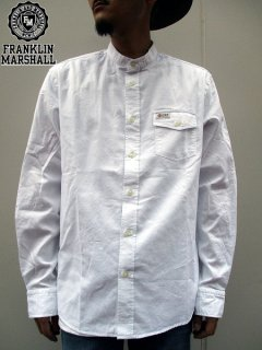 <img class='new_mark_img1' src='//img.shop-pro.jp/img/new/icons47.gif' style='border:none;display:inline;margin:0px;padding:0px;width:auto;' />【FRANKLIN&MARSHALL】 BAND COLLAR OXFORD SHIRT (バンドカラーオックスフォードシャツ) White