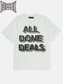 【FULL-BK(フルビーケー)】 DEALS TEE (Tシャツ) White