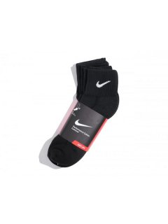<img class='new_mark_img1' src='//img.shop-pro.jp/img/new/icons57.gif' style='border:none;display:inline;margin:0px;padding:0px;width:auto;' />【NIKE(ナイキ)】 COTTON CUSHION QUARTER CUT SOCKS (コットンクッションクォーターカットソックス) Black