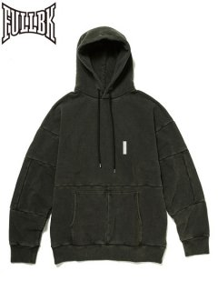 【FULL-BK(フルビーケー)】 PIGMENT DYED SWITCHING TRACK PARKA (ピグメント加工パーカー) Black