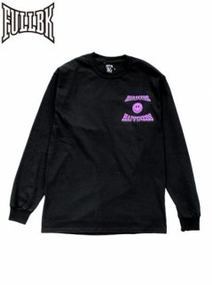 【FULL-BK(フルビーケー)】 HARDCORE HAPPINESS LS TEE (長袖Tシャツ) Purple