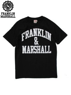 <img class='new_mark_img1' src='//img.shop-pro.jp/img/new/icons20.gif' style='border:none;display:inline;margin:0px;padding:0px;width:auto;' />※32%OFF【FRANKLIN&MARSHALL(フランクリン&マーシャル)】 CLASSIC FIT LIGHT JERSEY TEE (ロゴTシャツ/クラシックフィット) Black