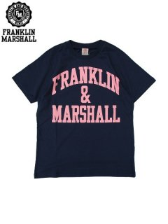 <img class='new_mark_img1' src='//img.shop-pro.jp/img/new/icons20.gif' style='border:none;display:inline;margin:0px;padding:0px;width:auto;' />※32%OFF【FRANKLIN&MARSHALL(フランクリン&マーシャル)】 CLASSIC FIT LIGHT JERSEY TEE (ロゴTシャツ/クラシックフィット) Navy