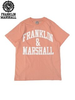<img class='new_mark_img1' src='//img.shop-pro.jp/img/new/icons20.gif' style='border:none;display:inline;margin:0px;padding:0px;width:auto;' />※32%OFF【FRANKLIN&MARSHALL(フランクリン&マーシャル)】 CLASSIC FIT LIGHT JERSEY TEE (ロゴTシャツ/クラシックフィット) Peach