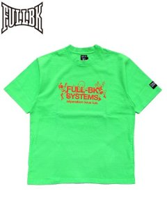 【FULL-BK(フルビーケー)】 SYSTEMS SMILE REMIX TEE (Tシャツ) Green