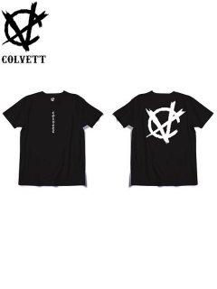 【COLVETT(コルベット)】 C-NARCHY LOGO TEE ver.2 (ロゴ 半袖Tシャツ) Black
