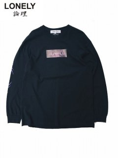 【LONELY論理(ロンリー)】 BAKE NEKO 2 L/S TEE (長袖Tシャツ) Black