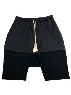 【WANNA(ワナ)】 EXchange SAROUEL SHORTS (サルエルショーツ) Black