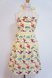 Neck Frill Apron��Yellow Bird)