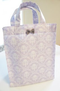 Damask Laminate Totebag(lavender)