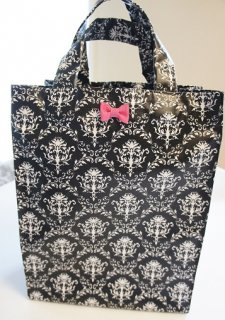 Damask Laminate��Totebag (black)