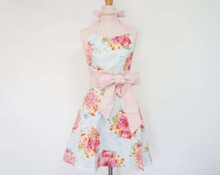 Flower Bouquet Big Ribbon Apron