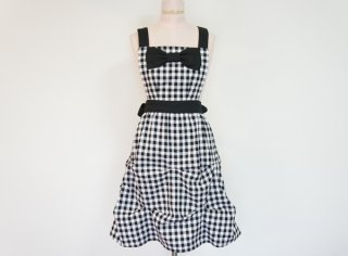 Gingham Check Tuck Apron
