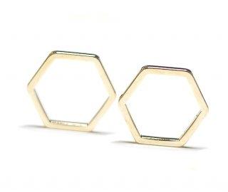 【30個入り】六角形ゴールドパーツ レジン枠