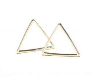 【30個入り】三角形ゴールドパーツ レジン枠