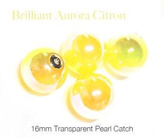 2個(1ペア)Brilliant Aurora Citronオーロライエローシトロンキャンディーカラー16mmピアスキャッチ