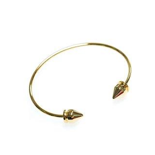 【1個】個性的な三角形装飾付きゴールドバングル、ブレスレット、金具
