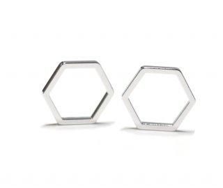 【30個入り】六角形シルバーパーツ レジン枠
