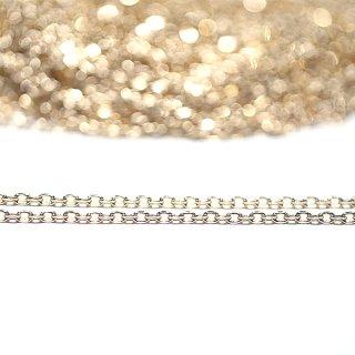 【4本入り】留め具含め約43cm(厚み約1.2mm)ゴールドネックレスチェーン
