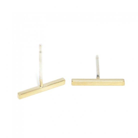 【2個入り】Petit Stickプチスティックマッドゴールド シルバー925芯ピアス