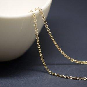 【1メートル 1meter】約1.23mm ゴールドプレート真鍮チェーン
