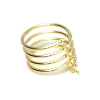 【1個】5本ピートン付きスプリングマットゴールド指輪、リング製作台