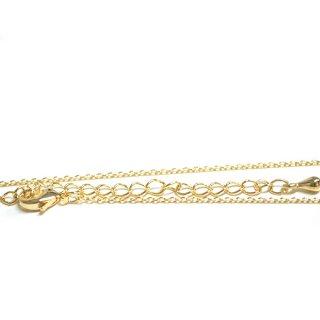 【2個入り】アジャスター&留め具含め約57.2cm(厚み約1mm)ゴールドチェーン