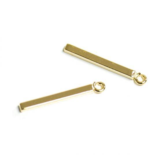 6e89e9950a08e7 プチスティックバーPetit Stickゴールドチャーム - ビーズ,ガラス,アクセサリーパーツのBejewel-DIYネット通販