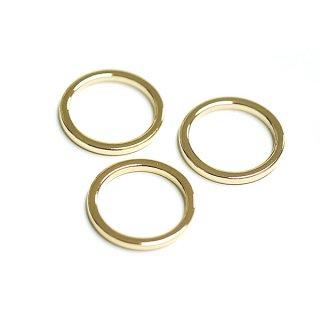 【4個入り】光沢ゴールドCircular約16mm円形パーツ