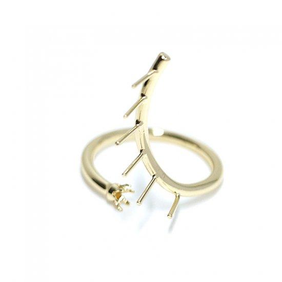 【1個】Swan Ring〜ピートン&ストーン台付きゴールドリング製作台、パーツ