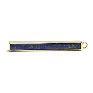 【1個】1点もの〜Long Stickバー30*4mmラピスラズリ(lapis lazuli)ゴールドチャーム