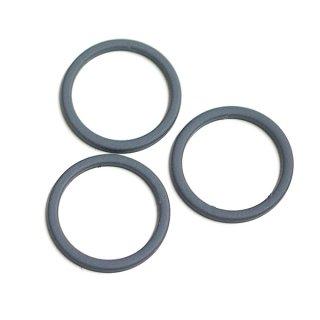 【2個入り】ダークグレーカラーマッド加工の直径約17mm円形パーツ、チャーム